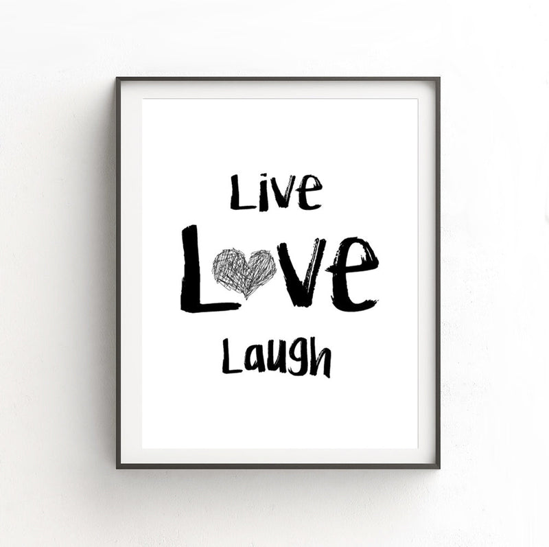 16 x 20 print live love laugh heart large loft style art print digital download Sky Whitman fine art