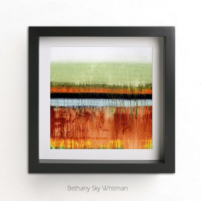 printable square art abstract print digital download large print yellow rust Sky Whitman