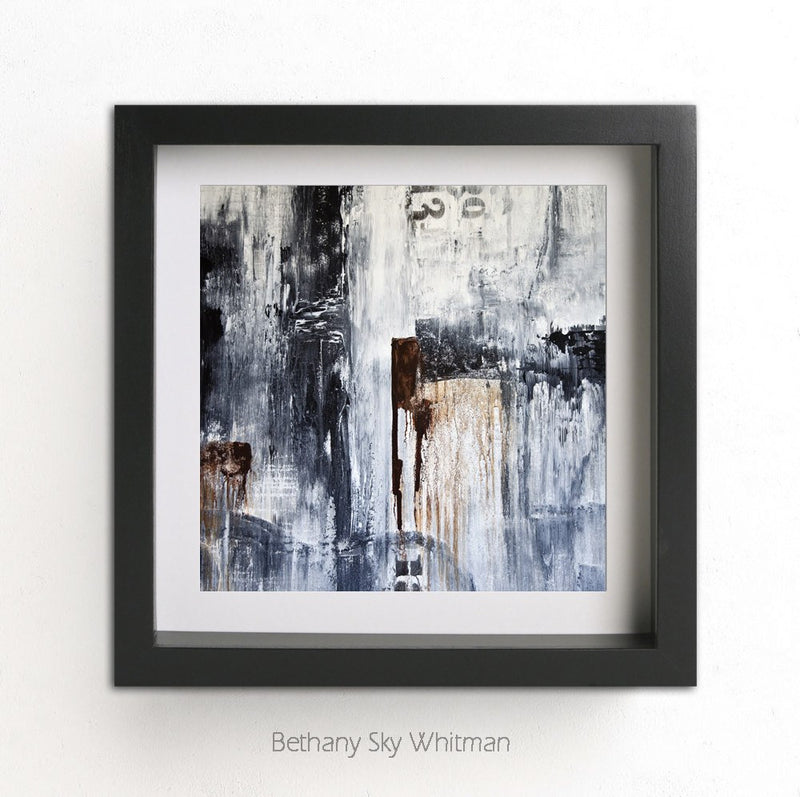 Digital square print abstract modern design wall decor wall art artwork Sky Whitman fine art