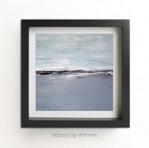 """The Deepest Journey SQ"" Gray Blue Landscape Instant Print Square 12x12 Digital Download Abstract Art Seascape Ocean Art"
