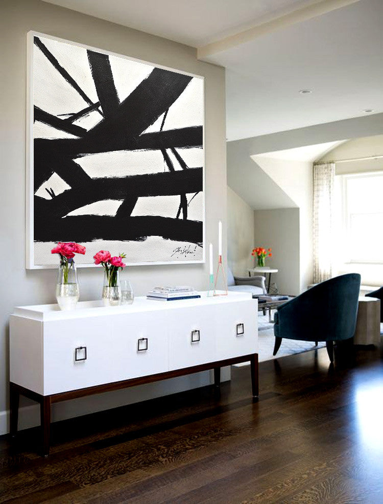 Sky Whitman Fine Art black and white abstract Franz Kline style