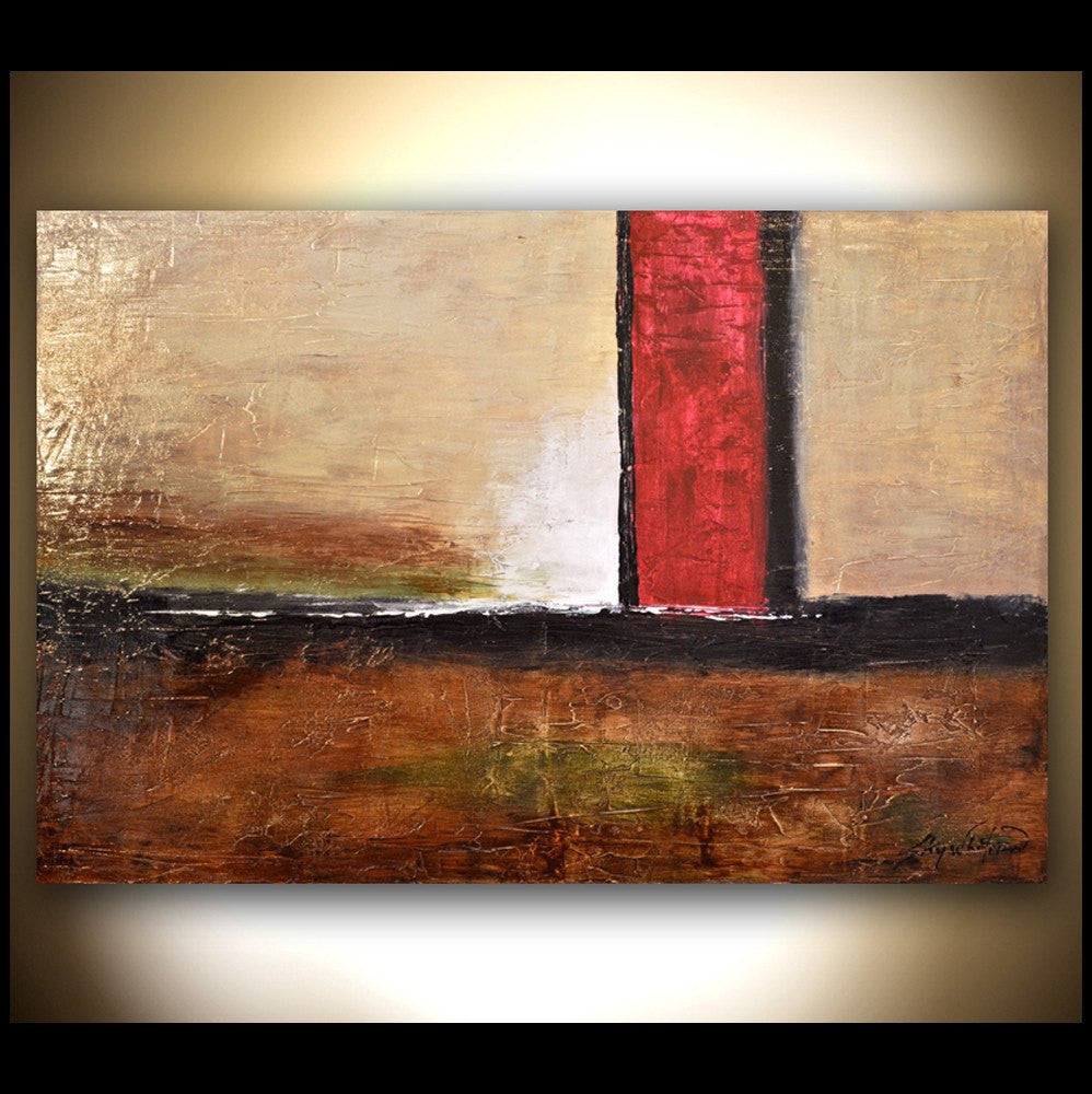 Brown & Red Diepte Kleur Modern Abstract Painting