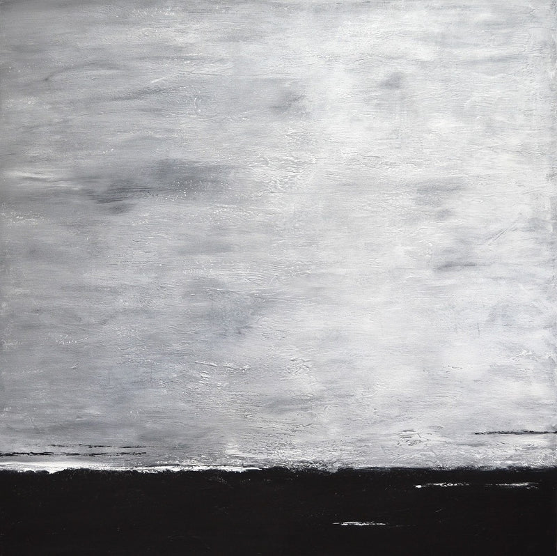 Original modern art large raw art urban black and white contemporary abstract painting Sky Whitman