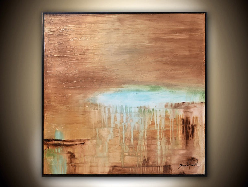 Art for sale brown painting abstract art modern art large painting Bethany Sky Whitman