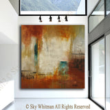 extra large modern painting absract art square orand original painting contemporary art for sale Bethany Sky Whitman