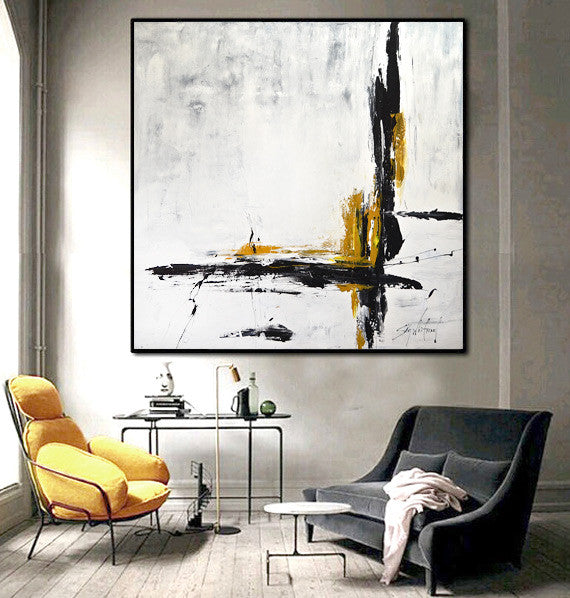48x48 abstract art large modern painting www.skywhitmanfineart.com