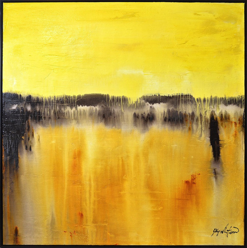 original yellow modern painting abstract art large painting for sale Bethany Sky Whitman