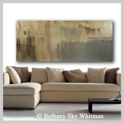 Large 6 Foot Abstract Contemporary Organic Oil Painting
