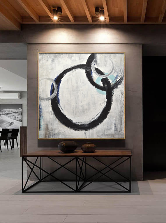 """Perfectly Imperfect"" Abstract Circles Painting Minimalist Art"