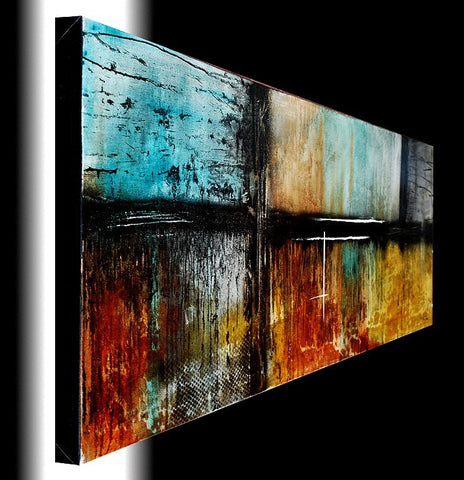 "Private Collection Signature Chaotic Calm Style 20""x72"" large panoramic original painting"