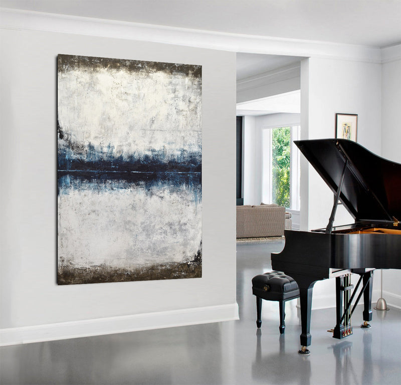 large abstract painting