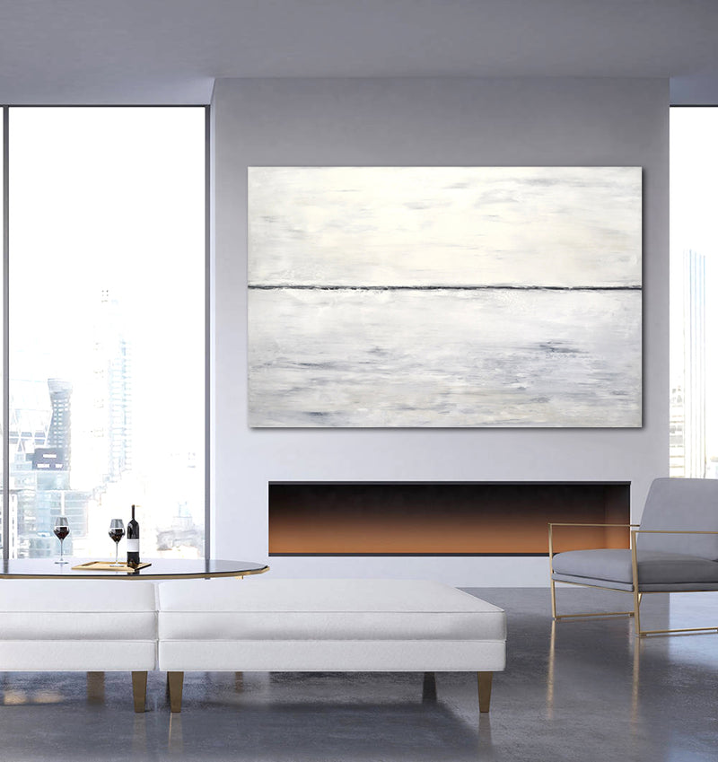 """Indecision"" Large 40 x 60 Landscape Abstract Painting"