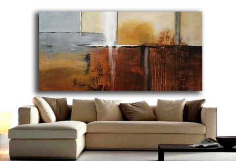 Large 6 Foot Abstract Contemporary Painting