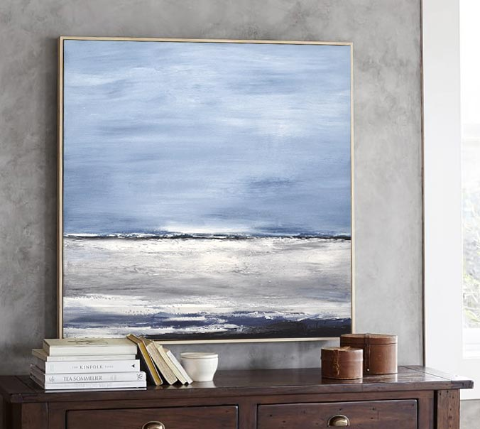 24 x 24 seascape blue artwork design
