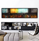 Large panoramic 6 foot abstract painting original modern art Sky Whitman
