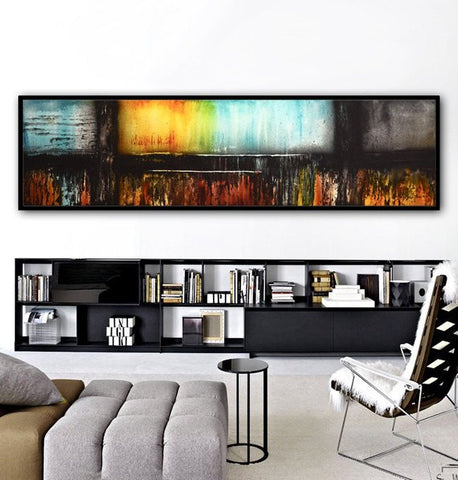 """Moments In Time"" Framed Modern Oil Painting Large Abstract Art Landscape Contemporary Art Taupe Sage Coffee Brown 31""x41"" ~AVAILABLE FOR IMMEDIATE SHIPPING"