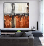 XXL painting rust large artwork modern design Sky Whitman