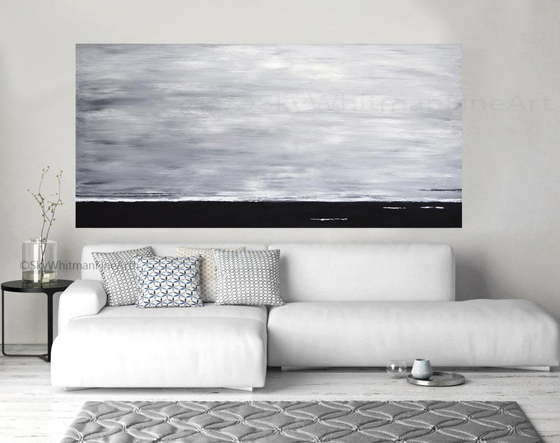 """The Rising"" Large Original Panoramic Abstract Painting"