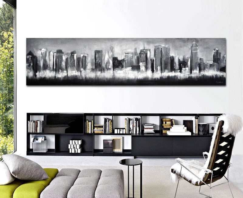 panoramic painting 20x84 city