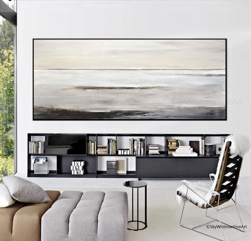 """Calm the Senses"" Original Panoramic Abstract Large Art"
