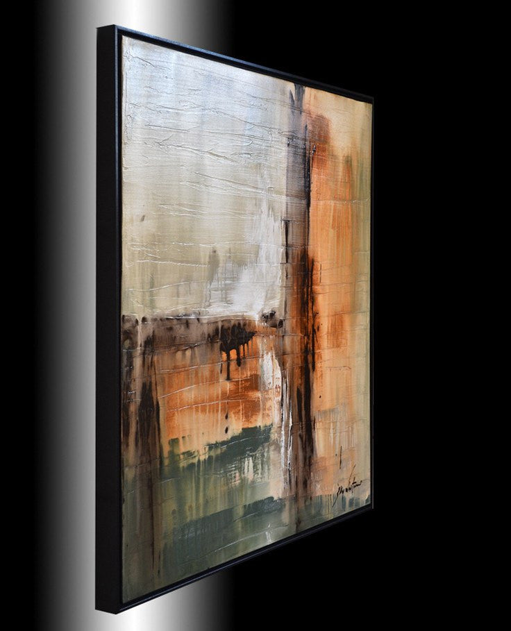"""Endless Endings"" Framed Abstract Painting"