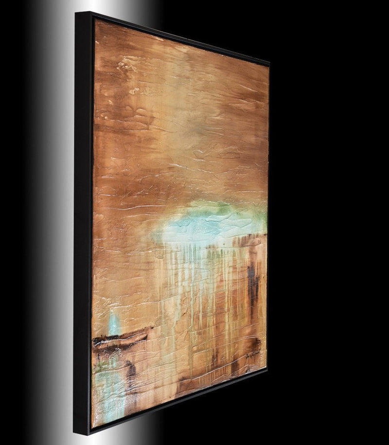 framed art for sale abstract art modern raw organic painting earth tones Bethany Sky Whitman