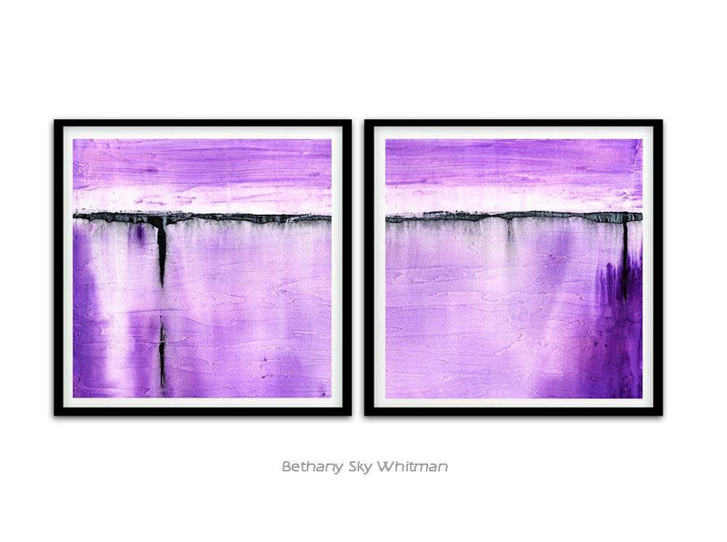 18 x 18 printable art purple instant download set of 2