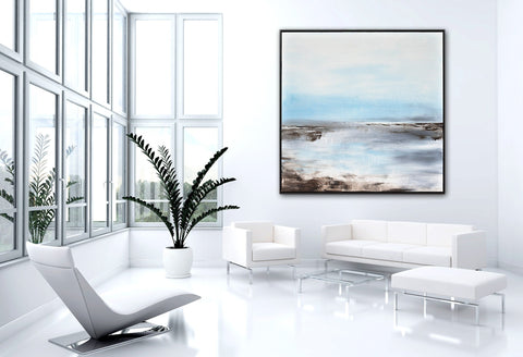 "Private Collection Framed Landscape/Seascape Painting ""Whispers"""