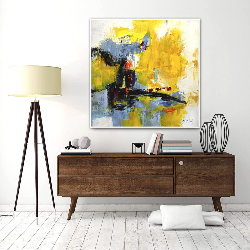yellow oil painting large art