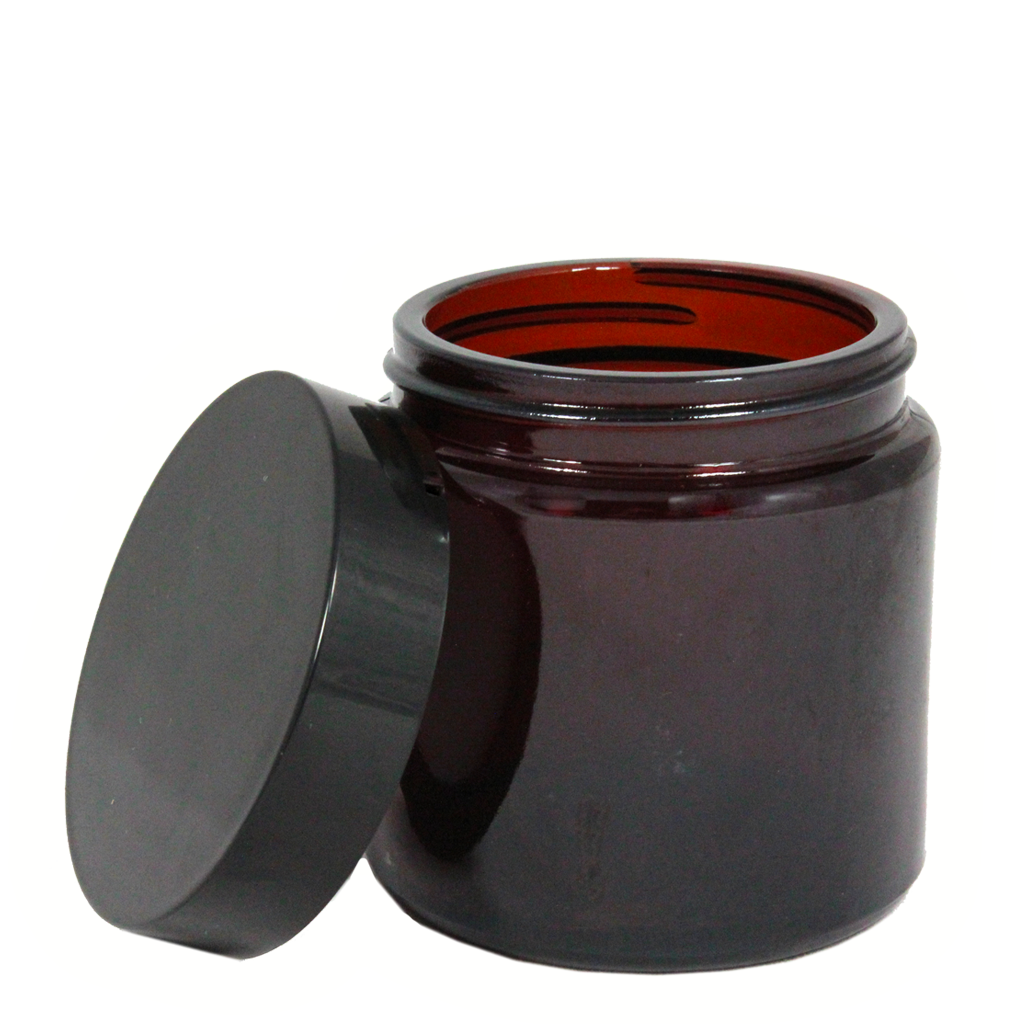120mL amber glass jar with lid 10-pack