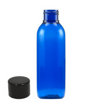 125mL blue PET bottle with cap 10-pack