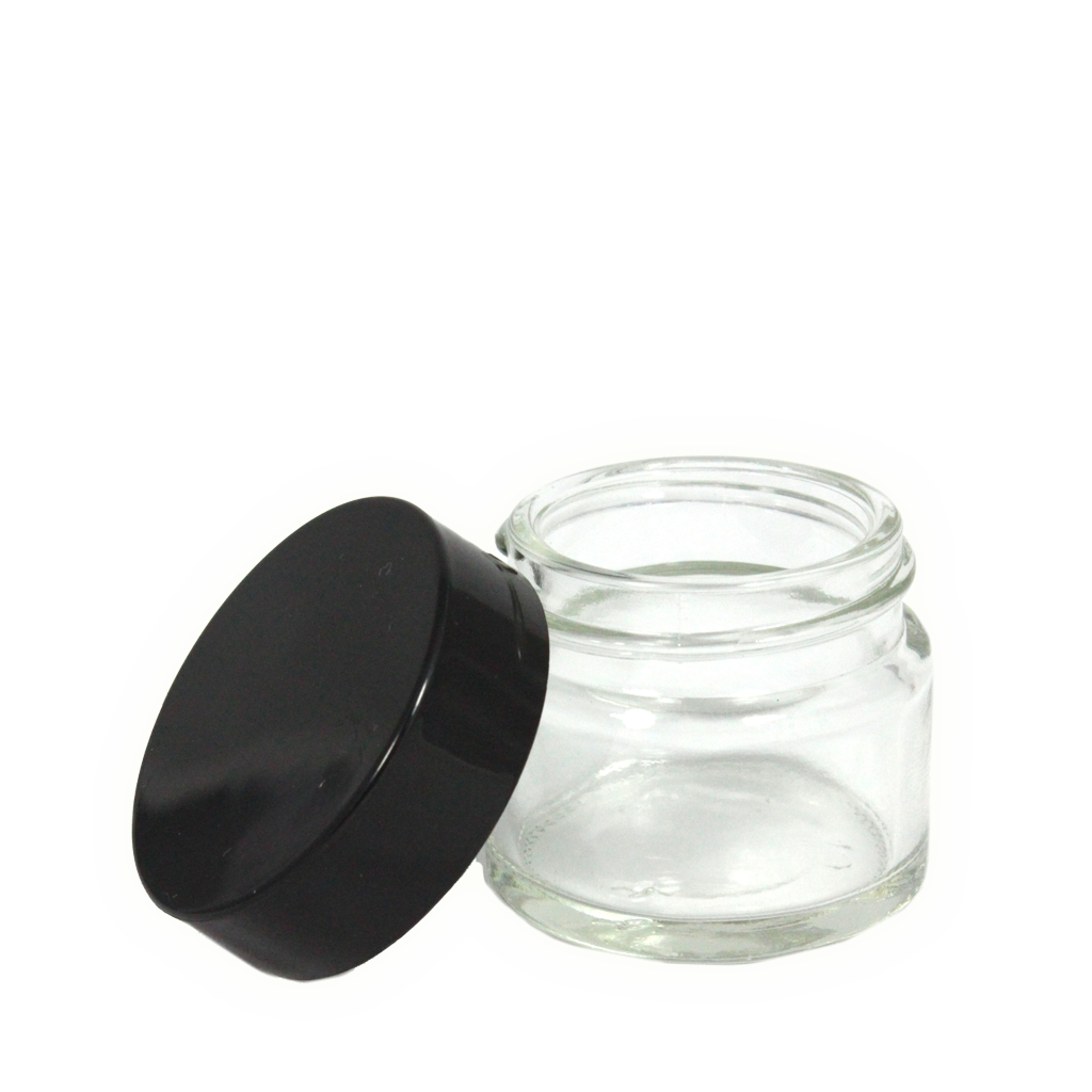 15mL clear glass jar with lid 10-pack