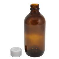 200mL amber glass bottle c/p cap 10-pack
