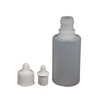 30mL frost HDPE bottle with dropper cap 10-pack