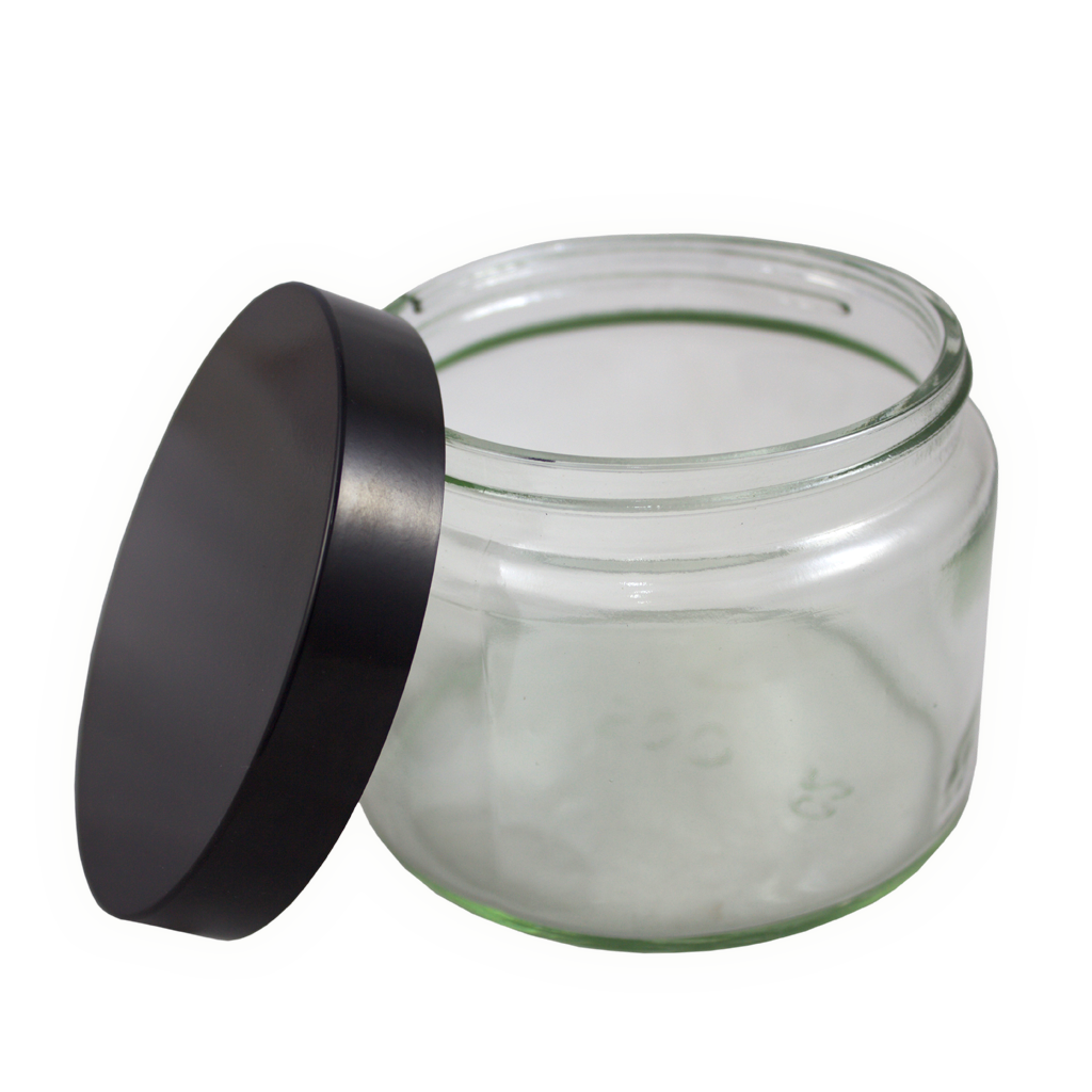 500mL clear glass jar with lid 10-pack
