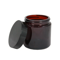 60mL amber glass jar with lid 10-pack