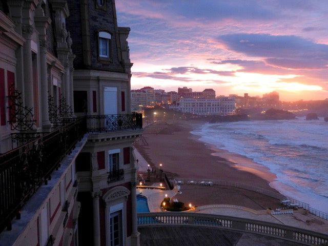Sunset Ocean View At Hotel Du Palais Biarritz, France | Stories + Objects Virtual Travel Notes
