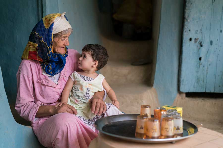 Portrait Of Grandmother and Child In Moroccan Village | Stories + Objects Travel Magazine