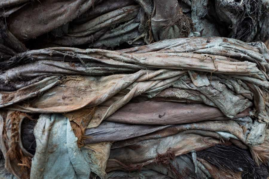 Stacked Animal Hides and Skins For Leather Goods | Stories + Objects Travel Imagery