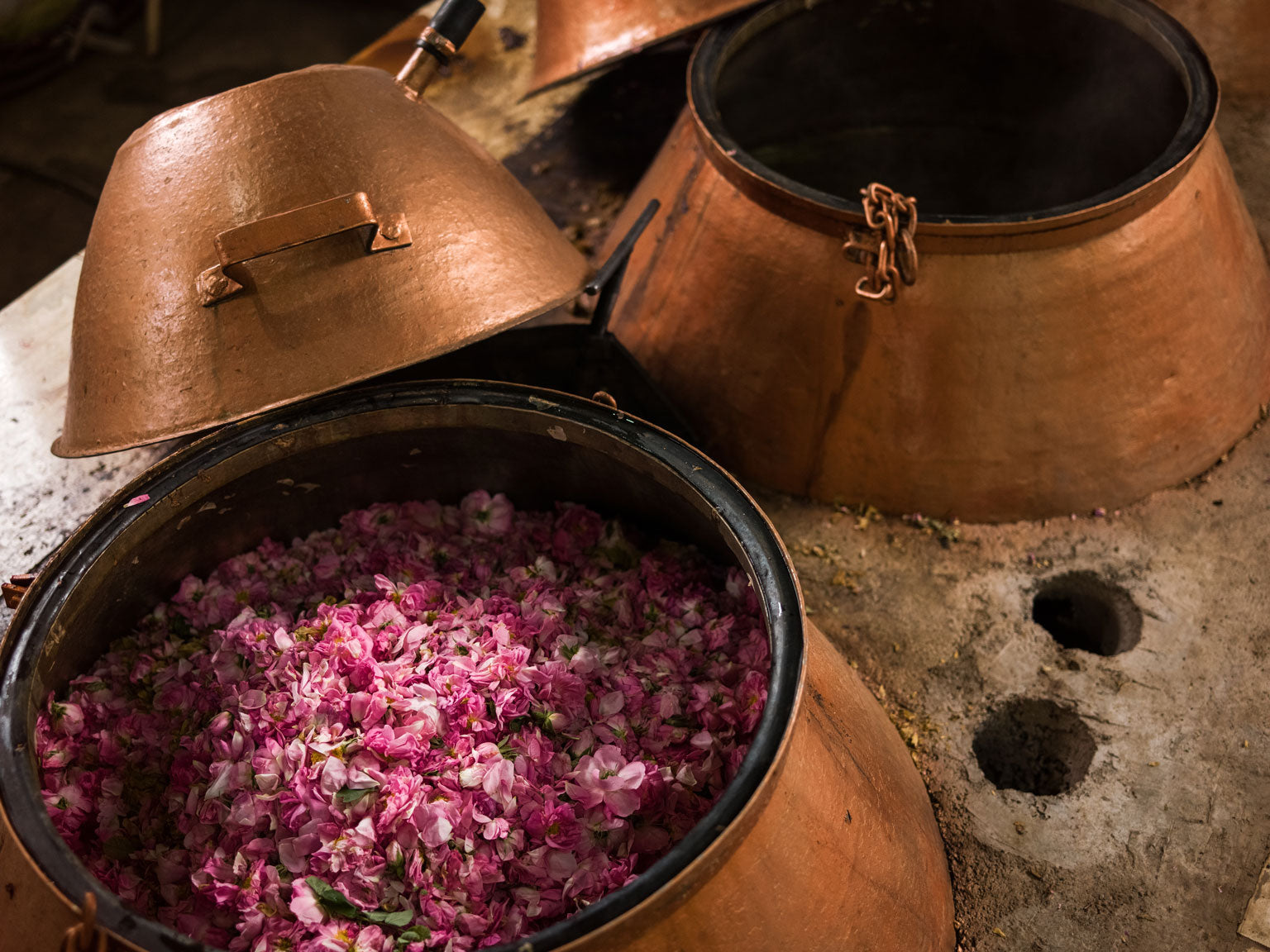 Iranian Rose Water Distillation In Copper Pots | Stories + Objects Lifestyle Travel Images