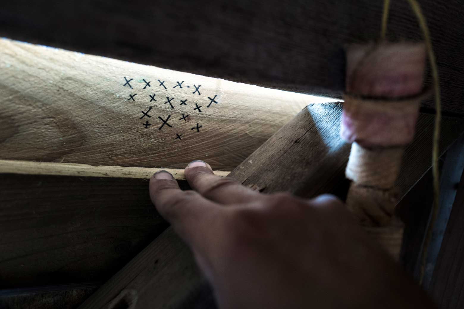 Sea Salt Harvest Tally Marks On Wood | Stories + Objects Luxury Lifestyle Magazine