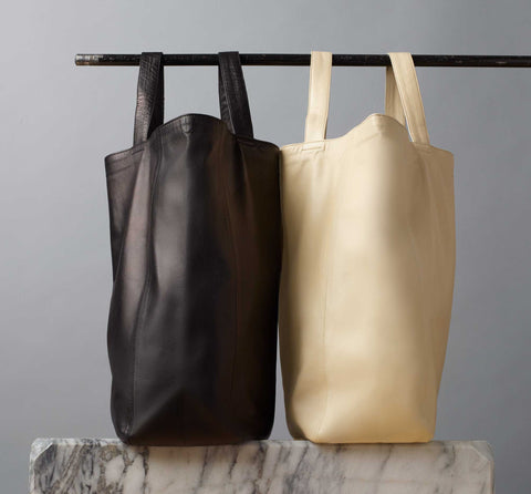Moroccan Leather Bag Tote On Marble | Stories + Objects World Gifts