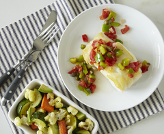 Seared Cod with Avocado Salad