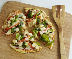 Pizza with Chicken and Roast Vegetables