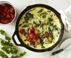 Swiss Chard Frittata and Tomatoes