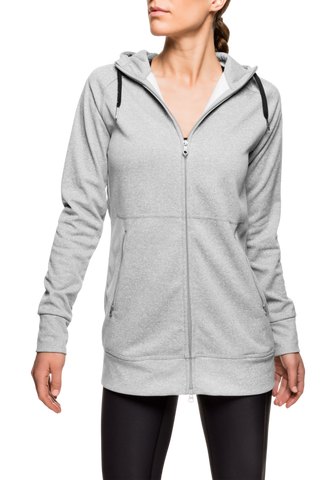 Tech Long Hood - Grey Melange
