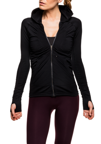 Structured Knitted Jacket - Black