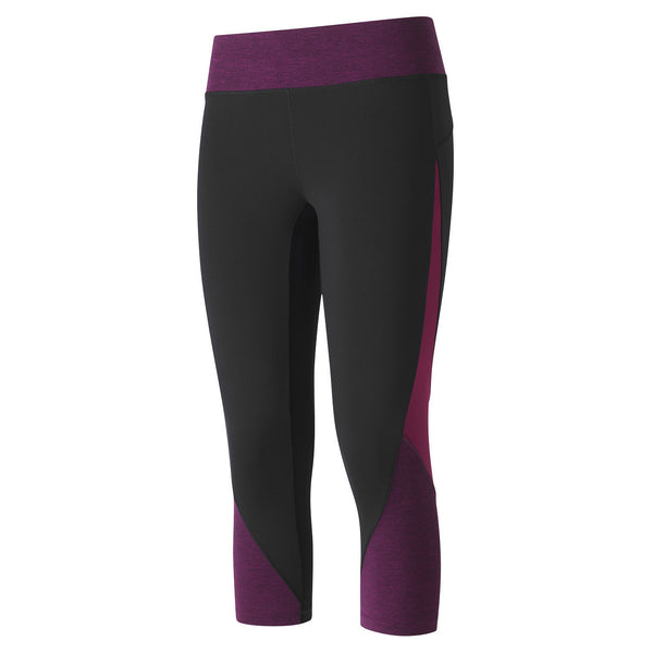 Melange contrast 3/4 tights - Magenta perfect