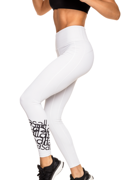 White 7/8 Tights - White