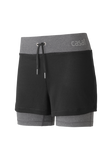 Two-in-one Shorts - Dk Grey Melange